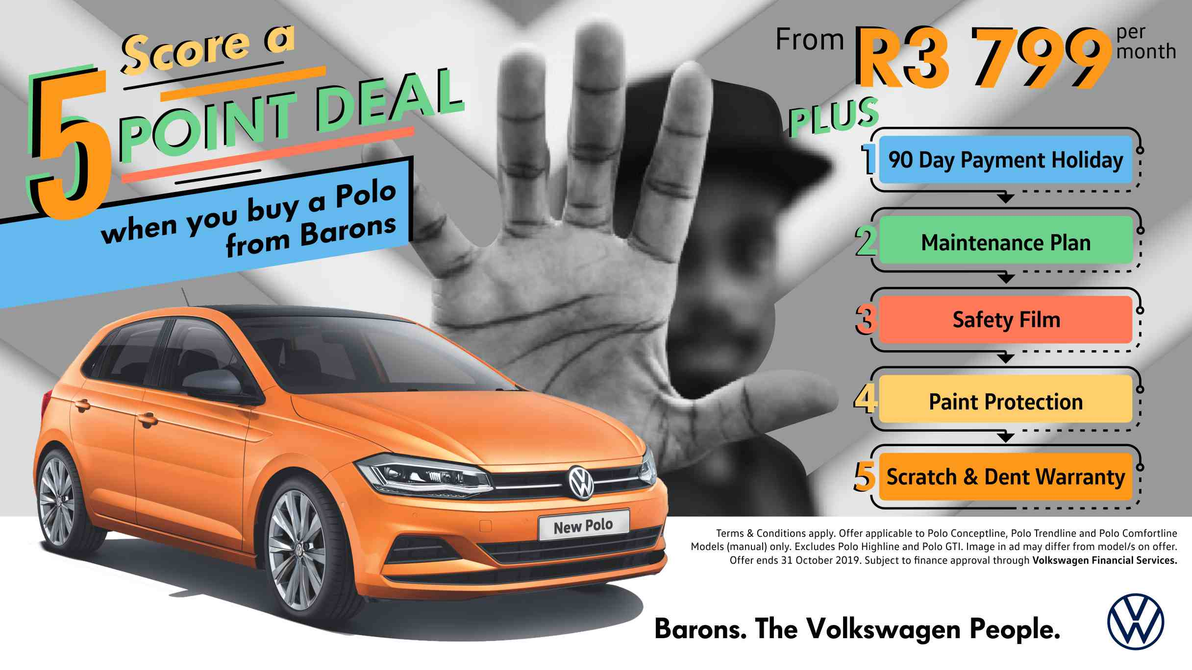 Barons Tokai October VW Polo deal